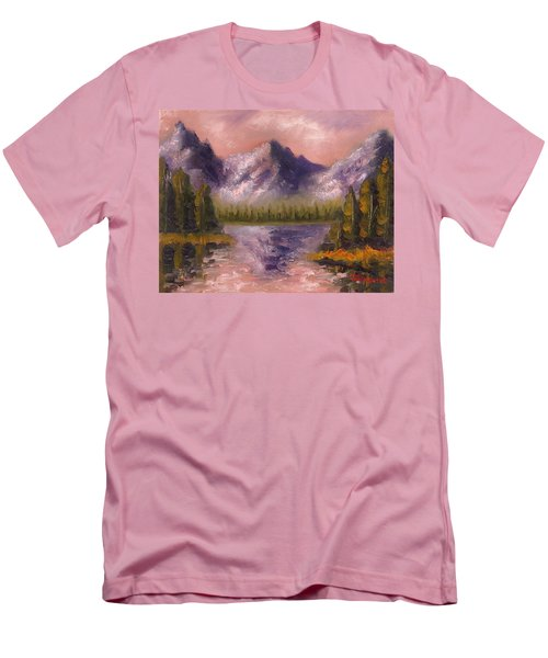 Men's T-Shirt (Slim Fit) featuring the painting Mental Mountain by Jason Williamson