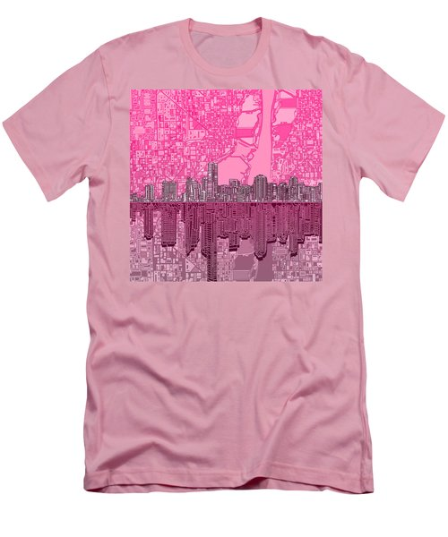 Miami Skyline Abstract 4 Men's T-Shirt (Athletic Fit)