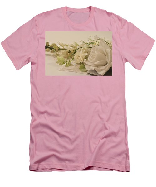 Men's T-Shirt (Slim Fit) featuring the photograph Many White Flowers  by Sandra Foster