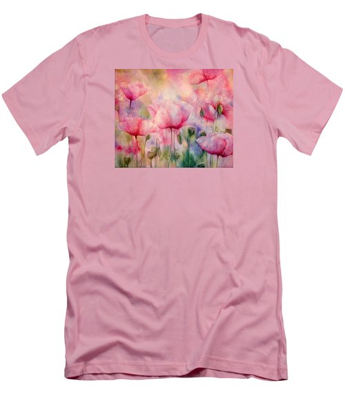 Monet's Poppies Vintage Warmth Men's T-Shirt (Athletic Fit)