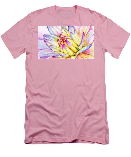 Morning Flower Men's T-Shirt (Slim Fit) by Janet Garcia