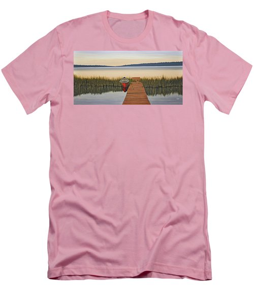 Men's T-Shirt (Slim Fit) featuring the painting Morning Has Broken by Kenneth M  Kirsch
