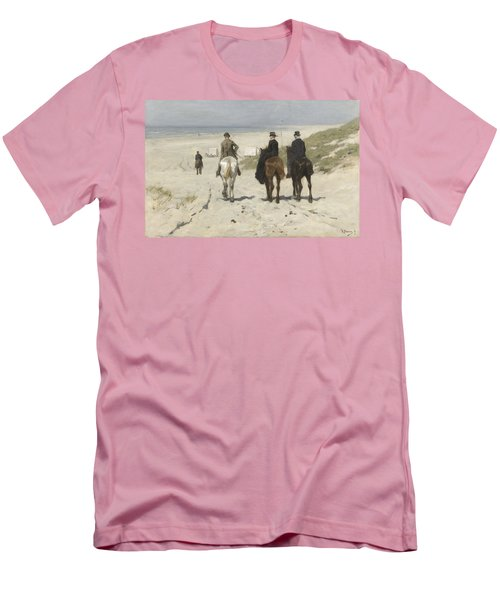 Morning Ride Along The Beach Men's T-Shirt (Athletic Fit)
