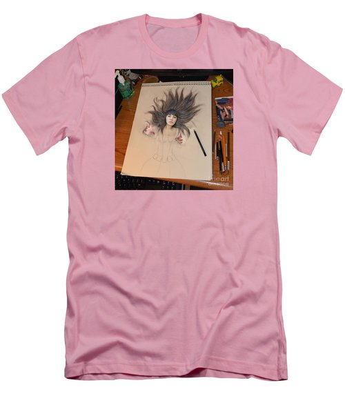 My Drawing Of A Beauty Coming Alive Men's T-Shirt (Athletic Fit)