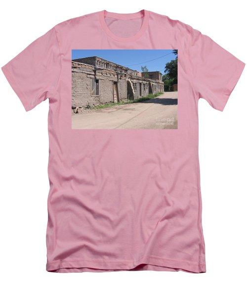 Men's T-Shirt (Slim Fit) featuring the photograph Native American Adobe Pueblo by Dora Sofia Caputo Photographic Art and Design