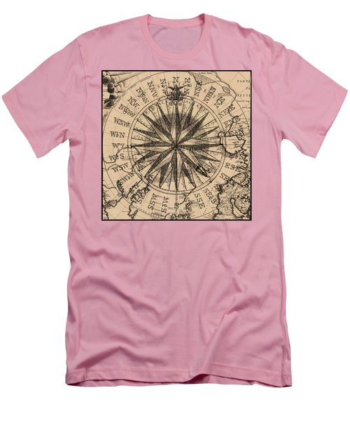Men's T-Shirt (Slim Fit) featuring the painting Nautical II by James Christopher Hill