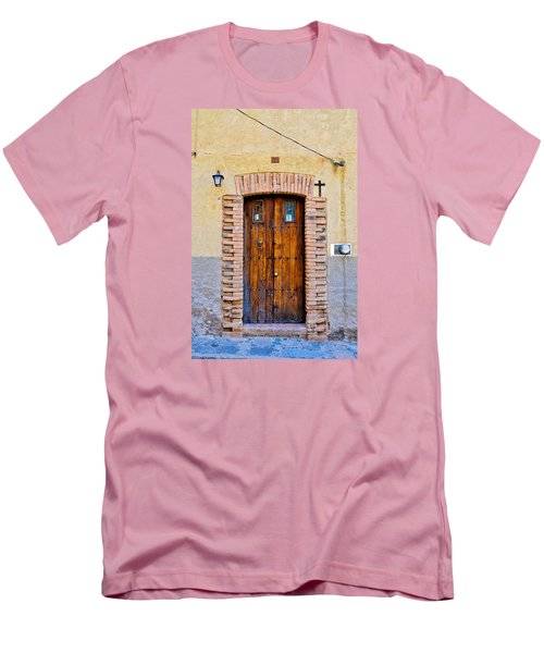 Old Wooden Door - Mexico - Photograph By David Perry Lawrence Men's T-Shirt (Slim Fit) by David Perry Lawrence