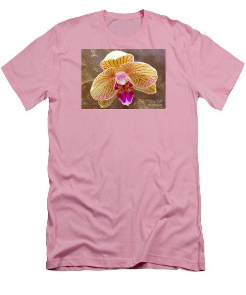 Orchid On Marble Men's T-Shirt (Slim Fit) by Barbie Corbett-Newmin
