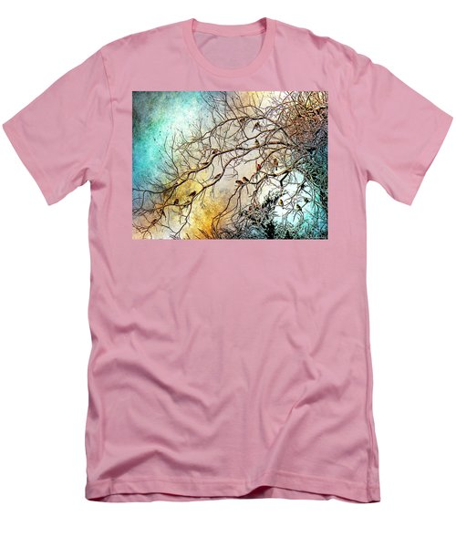 Out On A Limb In Jewel Tones Men's T-Shirt (Slim Fit) by Barbara Chichester