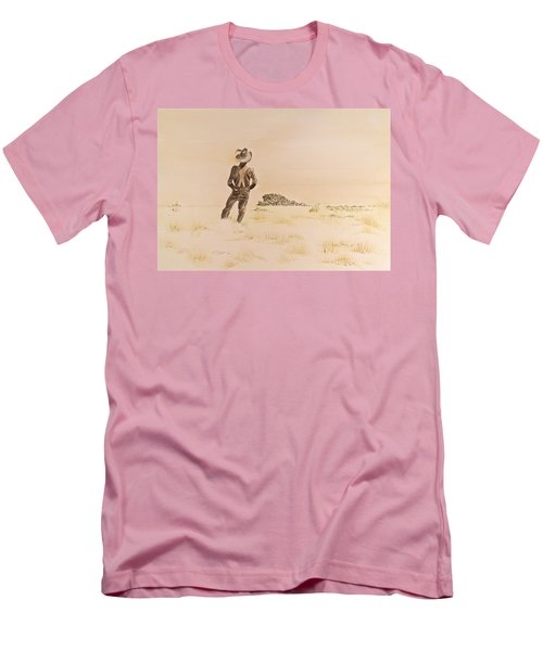 Men's T-Shirt (Slim Fit) featuring the painting Out There by Michele Myers