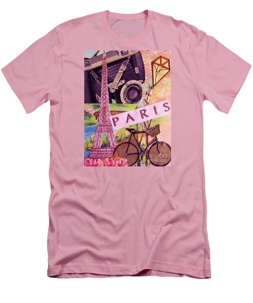 Men's T-Shirt (Slim Fit) featuring the drawing Paris  by Eloise Schneider