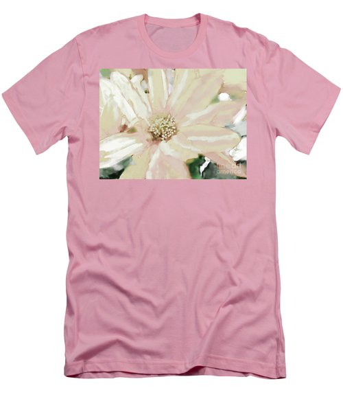 Pastel Daisy Photoart Men's T-Shirt (Slim Fit) by Debbie Portwood