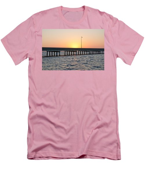 Peace River Bridge - Punta Gorda Florida Men's T-Shirt (Slim Fit) by John Black
