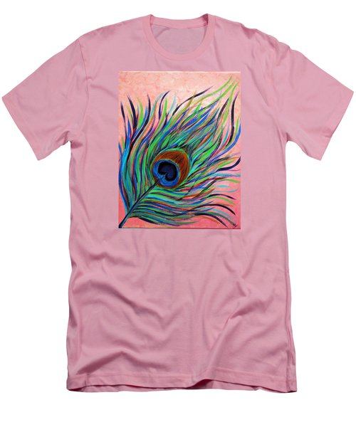Peacock Feather Men's T-Shirt (Athletic Fit)
