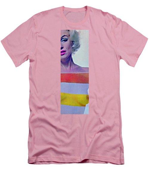 Peek A Boo Marilyn  Monroe Men's T-Shirt (Slim Fit) by Joan Reese
