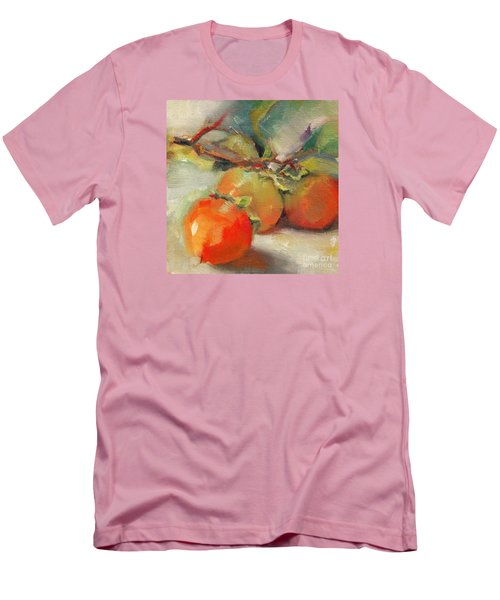 Men's T-Shirt (Slim Fit) featuring the painting Persimmons by Michelle Abrams