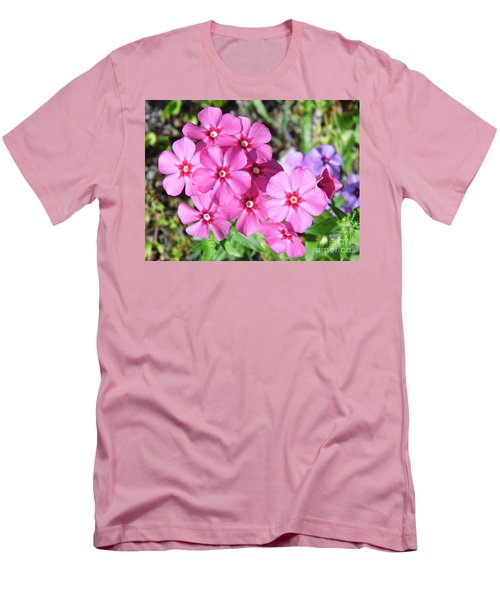 Men's T-Shirt (Slim Fit) featuring the photograph Phlox Beside The Road by D Hackett