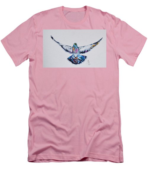 Pigeon In Flight Men's T-Shirt (Athletic Fit)