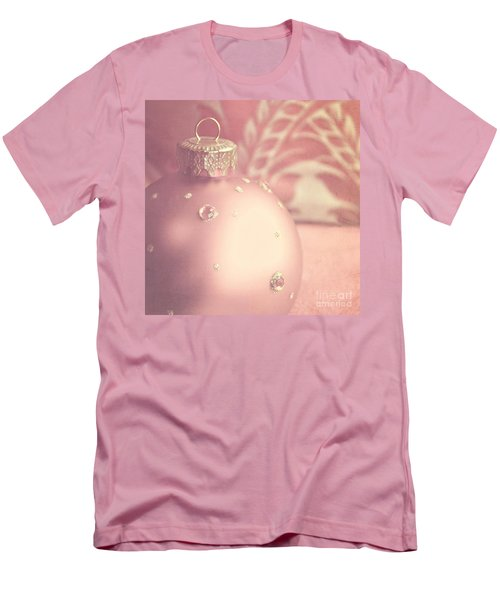 Pink And Gold Ornate Christmas Bauble Men's T-Shirt (Athletic Fit)