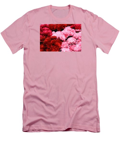 Pink And Red Men's T-Shirt (Slim Fit) by Menachem Ganon