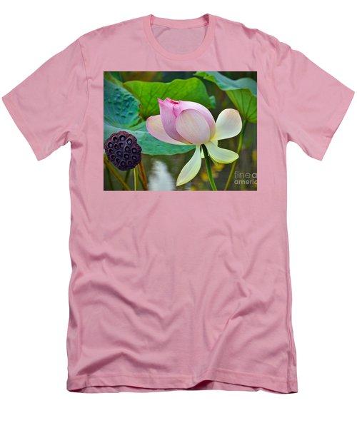 Pink Lotus Men's T-Shirt (Slim Fit) by Savannah Gibbs