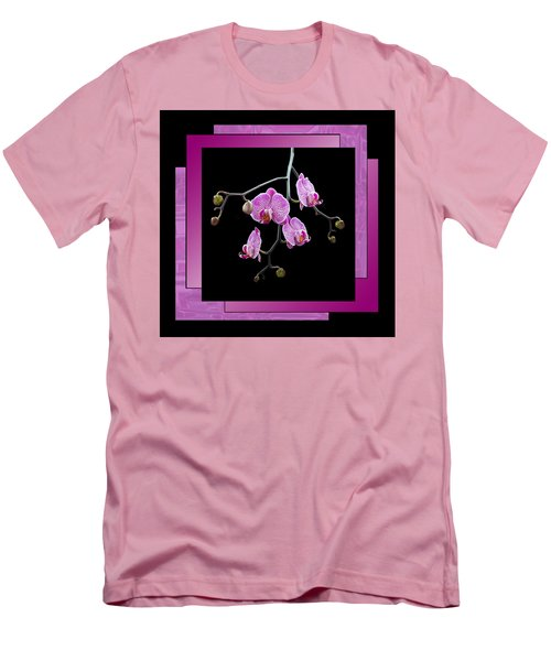 Men's T-Shirt (Slim Fit) featuring the photograph Framed Orchid Spray by Patti Deters