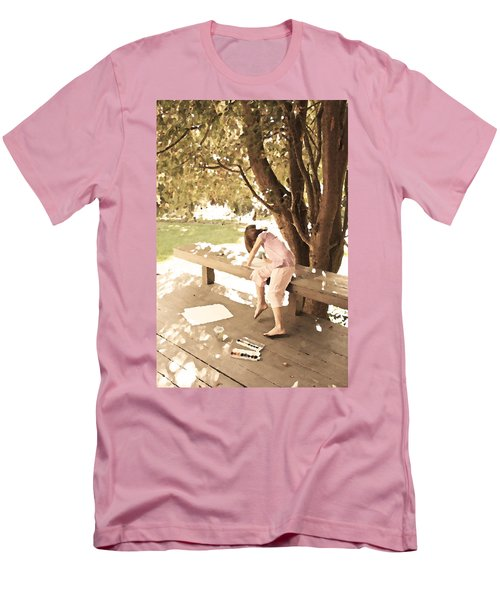 Men's T-Shirt (Slim Fit) featuring the photograph Pink Painter by Brooke T Ryan