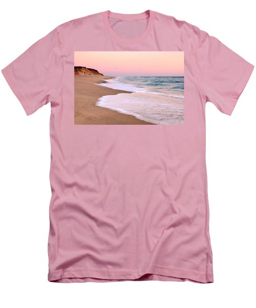 Pink Pastel Beach And Sky Men's T-Shirt (Athletic Fit)
