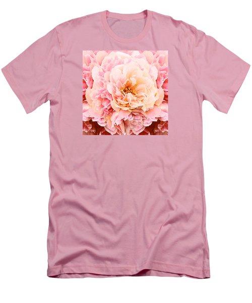 Pink Peony Men's T-Shirt (Slim Fit) by Michele Avanti