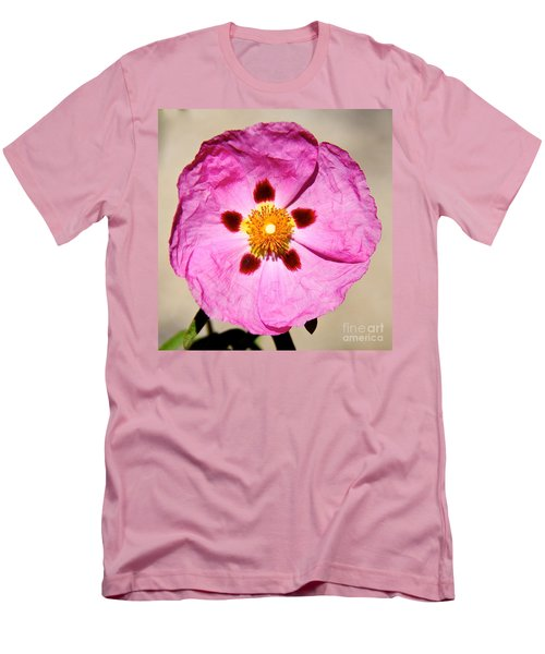 Pink Rock Rose Men's T-Shirt (Athletic Fit)