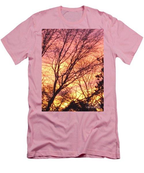 Pink Twilight Men's T-Shirt (Athletic Fit)
