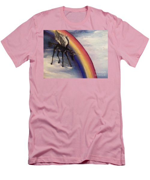 Playing With Rainbow Men's T-Shirt (Slim Fit) by Karen  Ferrand Carroll