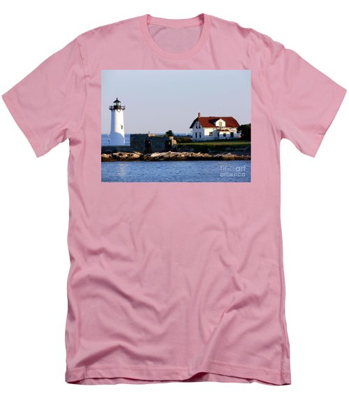 Portsmouth Harbor Light Men's T-Shirt (Slim Fit) by Kevin Fortier