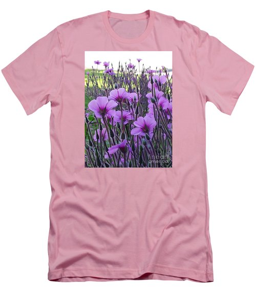 Men's T-Shirt (Slim Fit) featuring the photograph Purple Field by Jasna Gopic