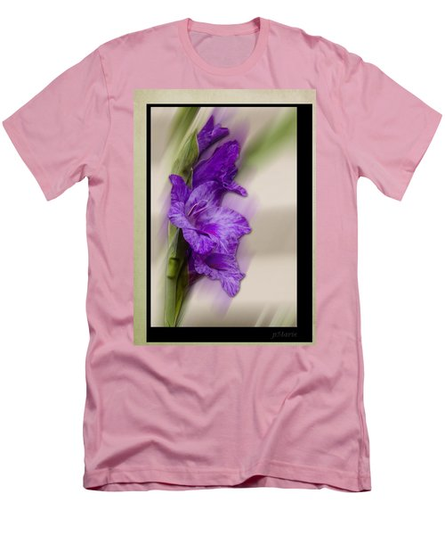 Men's T-Shirt (Slim Fit) featuring the photograph Purple Gladiolus by Patti Deters
