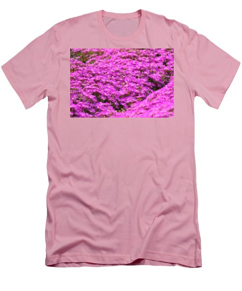 Men's T-Shirt (Slim Fit) featuring the photograph Purple Hills by Amy Gallagher