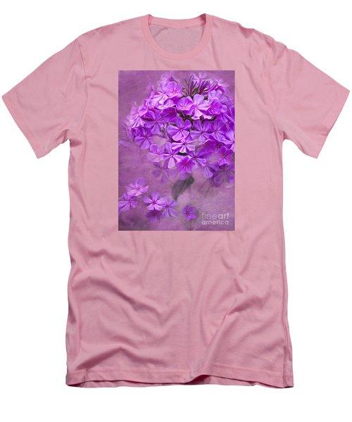 Purple Phlox Men's T-Shirt (Athletic Fit)