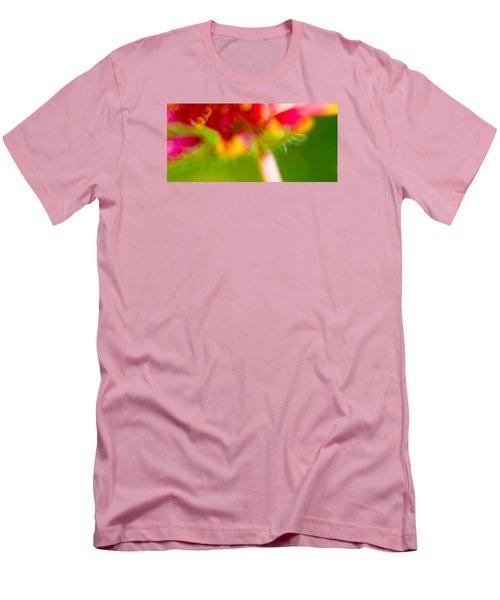 Rainbow Flower Men's T-Shirt (Slim Fit) by Darryl Dalton