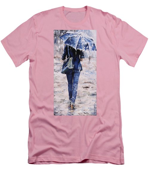Rainy Day #22 Men's T-Shirt (Slim Fit) by Emerico Imre Toth