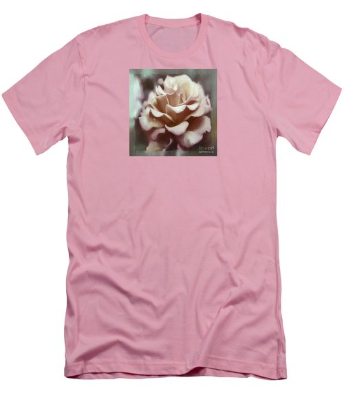 Men's T-Shirt (Slim Fit) featuring the photograph Red White Rose by Jean OKeeffe Macro Abundance Art