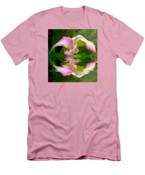 Reflecting Lily Men's T-Shirt (Slim Fit) by Michele Avanti