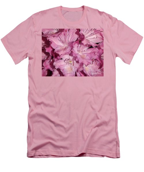 Rhododendron Bliss Men's T-Shirt (Slim Fit) by Sara  Raber