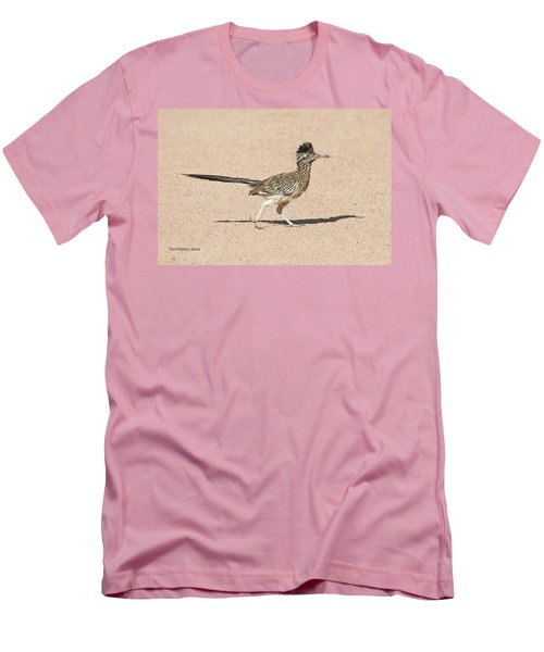 Men's T-Shirt (Slim Fit) featuring the photograph Road Runner On The Road by Tom Janca