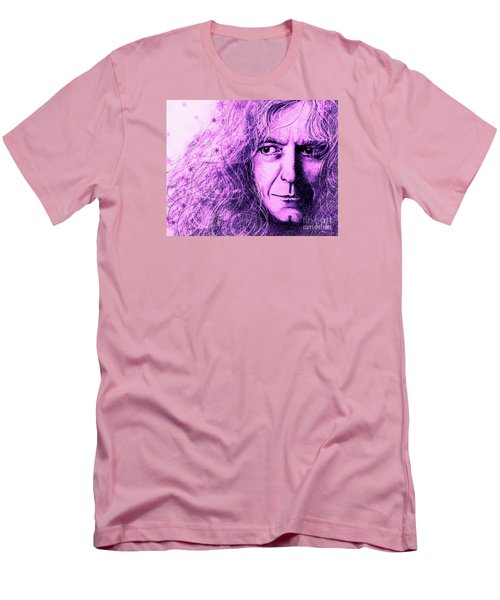Robert Plant Purple Men's T-Shirt (Athletic Fit)