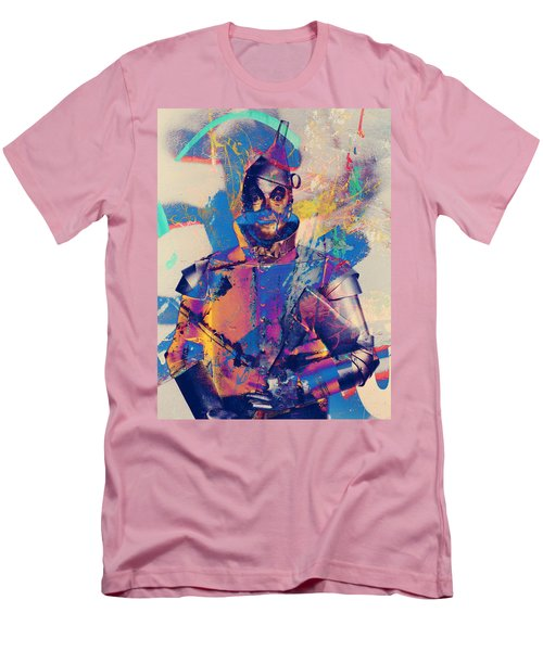 Rubber Tin Man  Men's T-Shirt (Slim Fit) by Jerry Cordeiro