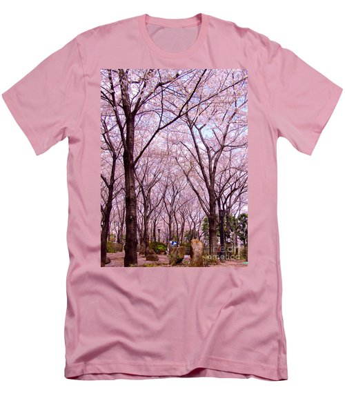 Men's T-Shirt (Slim Fit) featuring the photograph Sakura Tree by Andrea Anderegg