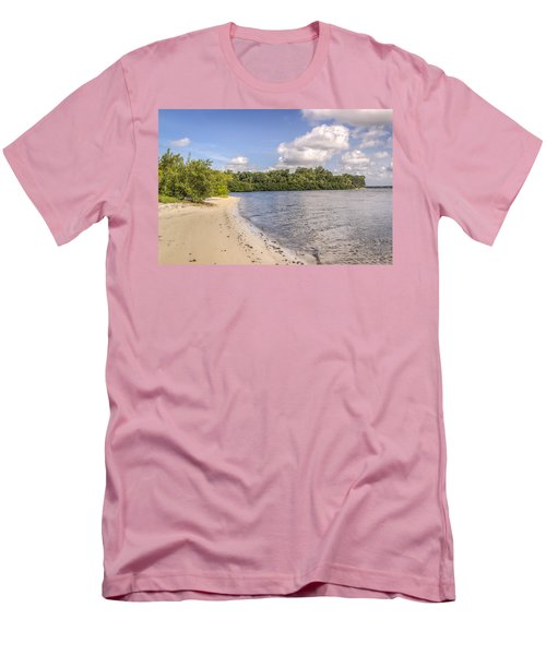Men's T-Shirt (Slim Fit) featuring the photograph Sandy Beach by Jane Luxton