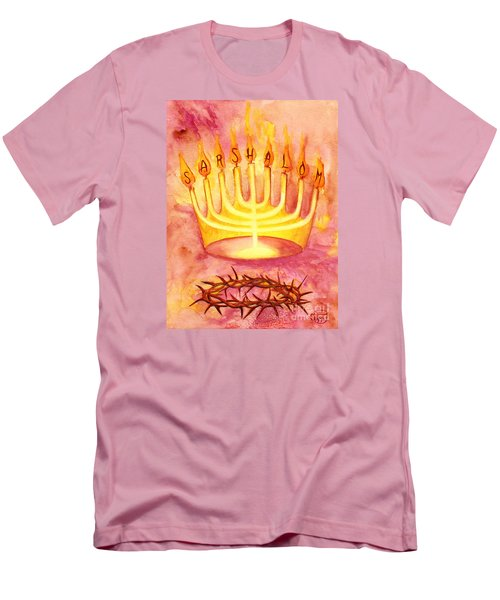 Sar Shalom Men's T-Shirt (Slim Fit) by Nancy Cupp