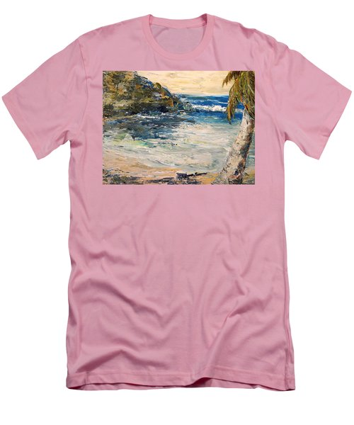 Men's T-Shirt (Slim Fit) featuring the painting Saturday Afternoon  by Alan Lakin