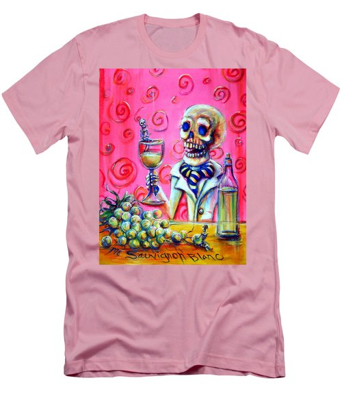 Men's T-Shirt (Slim Fit) featuring the painting Mi Sauvignon Blanc by Heather Calderon